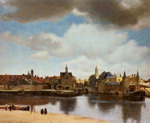 View of Delft, c.1660 by Johannes Vermeer
