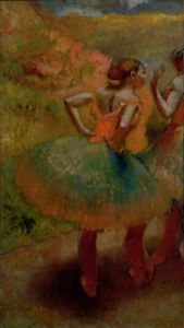 Dancers Wearing Green Skirts, c.1895 by Edgar Degas