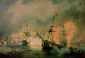 The Battle of Navarino, 20th October 1827 by Ivan Konstantinovich Aivazovsky