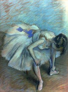 Seated Dancer, c.1881 by Edgar Degas