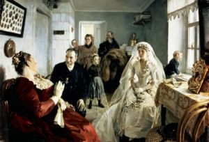 Before the Wedding, 1880s by Illarion Mikhailovich Pryanishnikov