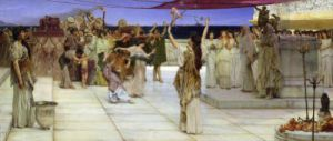 A Dedication to Bacchus, 1889 by Sir Lawrence Alma-Tadema