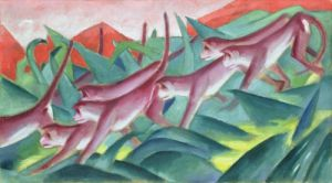 Monkey Frieze, 1911 by Franz Marc
