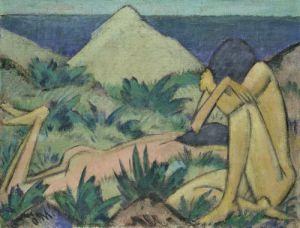 Nudes in Dunes, c.1919 by Otto Muller