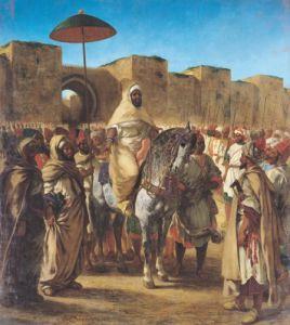Muley Abd-ar-Rhaman, 1845 by Eugene Delacroix
