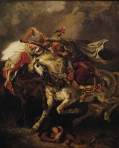 The Battle of Giaour and Hassan, 1835 by Ferdinand Victor Eugene Delacroix