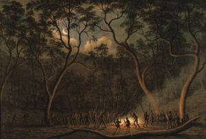 Aboriginal Coroboree in Van Diemen's Land by John Glover