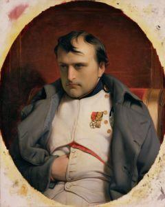 Napoleon in Fontainebleau, 1846 by Paul Delaroche