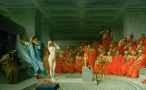 Phryne Before the Jury, 1861 by Jean-Leon Gerome