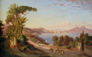 View of Naples by Carl Wilhelm Gotzloff