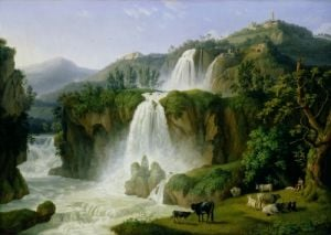 The Waterfall at Tivoli, 1785 by Jacob-Philippe Hackert
