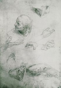 Studies for the Figure of Bramante by Raphael
