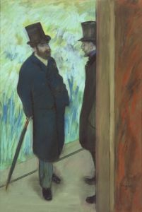 Friends at the Theatre, 1878 by Edgar Degas