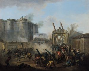 The Taking of the Bastille, 14th July 1789 by English or French School