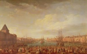Morning View of the Inner Port of Marseille, 1754 by Claude Joseph Vernet