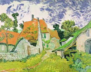 Street in Auvers-sur-Oise, 1890 by Vincent Van Gogh