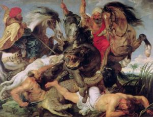 Hippopotamus and Crocodile Hunt, c.1615 by Peter Paul Rubens