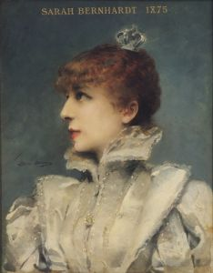 Sarah Bernhardt, 1875 by Louise Abbema