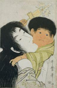 Yama-Uba and Kintoki by Utagawa Kuniyoshi