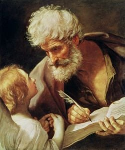 Saint Matthew by Guido Reni