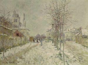 Snow Effect by Claude Monet