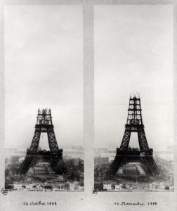 The Eiffel Tower, 14.10. and 14.11. 1888 by English or French School