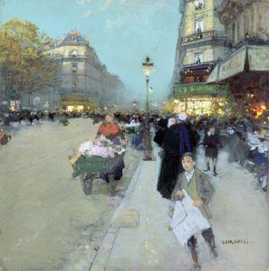 Urban Landscape by Luigi Aloys-François-Joseph Loir
