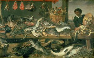 Fish Stall by Frans Snyders