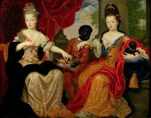 Portrait of Francoise-Marie & Louise-Francoise by Philippe Vignon
