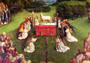 The Adoration of the Mystic Lamb, 1432 (Detail) by Jan Van Eyck