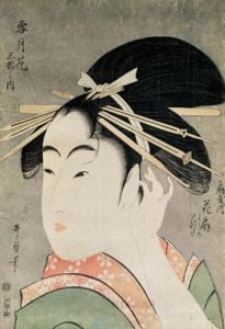 Head of a Woman by Utagawa Kuniyoshi