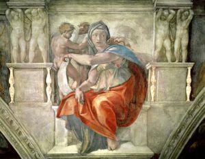 Sistine Chapel Ceiling: Delphic Sibyl by Michelangelo