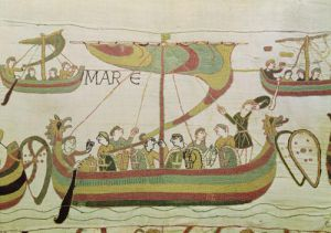 Duke William of Normandy crosses the sea (Detail) by English or French School