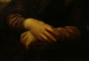 Mona Lisa, detail of her hands, c.1503 by Leonardo da Vinci