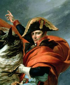Napoleon Crossing the Alps, 1803 (detail) by Jacques-Louis David