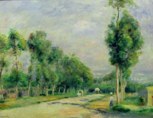 The Road to Versailles at Louveciennes by Pierre Auguste Renoir