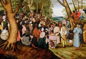 Landscape with St. John the Baptist Preaching by Pieter Brueghel The Younger