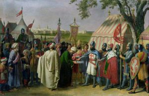 Count of Tripoli accepting the Surrender by Alexandre Francois Caminade