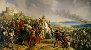 Battle of Askalon, 1842 by Charles-Philippe Lariviere