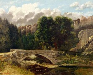 The Pont de Fleurie, Switzerland, 1873 by Gustave Courbet