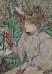 Woman with Gloves 1891 by Henri de Toulouse-Lautrec