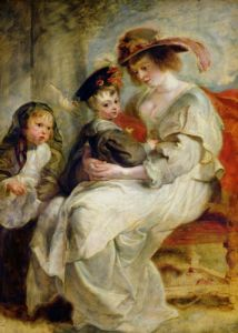 Helene Fourment with Two of her Children c.1636 by Peter Paul Rubens