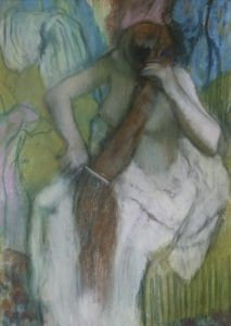 Woman Combing her Hair 1887 by Edgar Degas