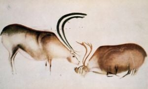 Male and female deer Magdalenian school by Paleolithic