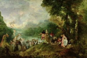 Embarkation for Cythera 1717 by Jean Antoine Watteau