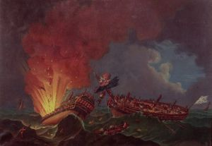 The Engagement between the Quebec and the Surveillante by Auguste Rossel de Cercy