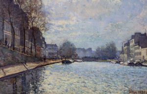 View of the Canal Saint-Martin Paris 1870 by Alfred Sisley