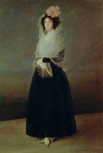 Portrait of the Countess of Carpio Marquesa de la Solana c.1793 by Francisco de Goya