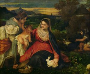 Madonna and Child with St. Catherine c. 1530 by Titian