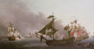 Naval Combat off the Isle of Grenada 1788 by Jean-Francois Hue